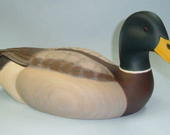 carved mallard duck decoy