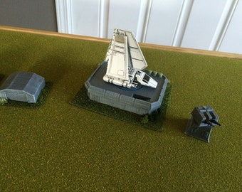 Imperial Landing Pad for Star Wars X-Wing Miniature Terrain, 3D printed