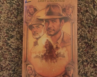 1989 Indiana Jones and the Last Crusade VHS Movie Factory Sealed