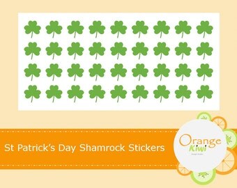 Shamrock Stickers, St Patrick's Day Shamrock Stickers, Luck of the Irish, St Patty's Day Party Decor Stickers, Envelope Seals