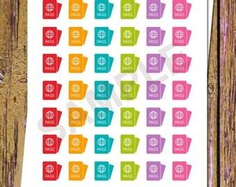 42 Passport Planner Stickers Passport Stickers Travel Stickers Travel Planner Stickers Vacation Stickers Icon Functional Stickers A142