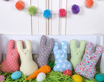 Plush Bunny/ Rattle/ 8 inch