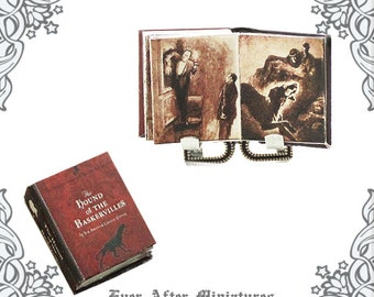 HOUND of the BASKERVILLES Sherlock Holmes Miniature Book – 1:12 Conan Doyle Dollhouse Miniature Book Sherlock Holmes Book Printable DOWNLOAD