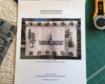 Canadian Parliament Quilt Pattern