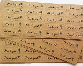 Pegatinas kraft THANK YOU- Kraft stickers- Gift labels- Thank you stickers- Kraft paper tags- Gift tags-Packaging stickers