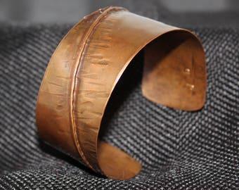 Fold Formed Copper Cuff Bracelet (041917--31)