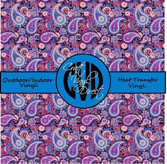 Beautiful Paisley Patterned Craft Vinyl and Heat Transfer Vinyl in Pattern 423