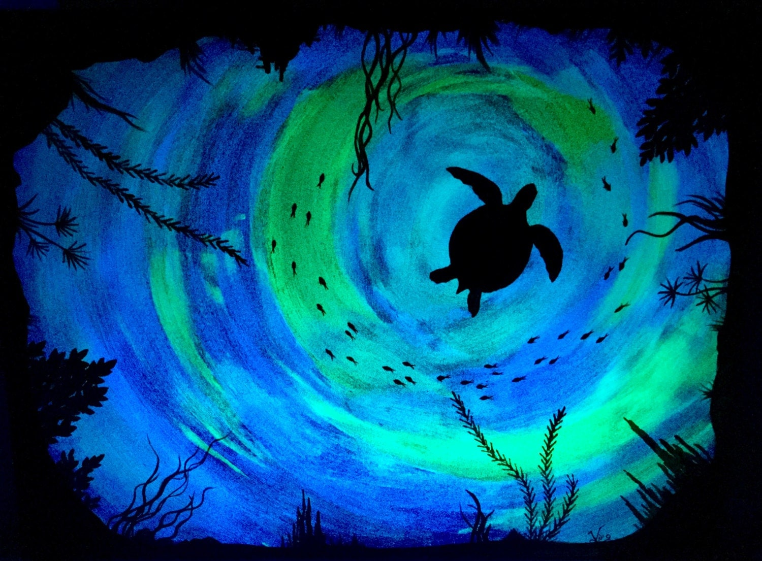 Glow In The Dark Paint Wall Art