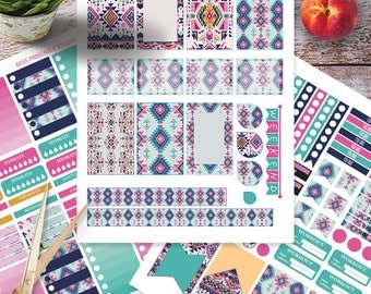 Aztec Planner Stickers Printable, Aztec Kit BIG MAMBI Happy planner, Monthly / Weekly Kit, Printable Sampler,Instant download