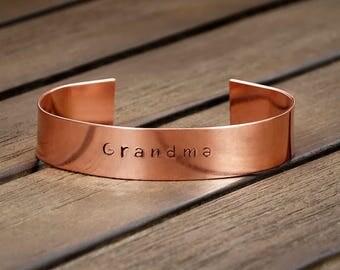 CUSTOM Copper Bracelet, Women's Copper Cuff Bracelet, Aluminum Cuff, Brass Cuff, Gift under 20, Gift for her, Design your Own Cuff