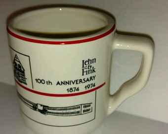 Vintage 1974 Coffee Mug Lehn & Fink  - 100th Anniversary Inventors of Lysol