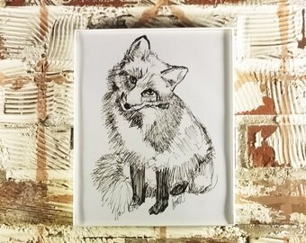 Fox Sketch - Print of Original Illustration by Me