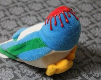 Meanie Beanie-Donnie Didn't Duck-Beheaded duck beanie baby-Series 2 Meanies-Dark decor-Unusual gifts-Weird decor-Gory duck