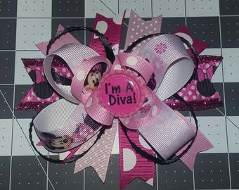 4in Minnie Mouse Hairbow