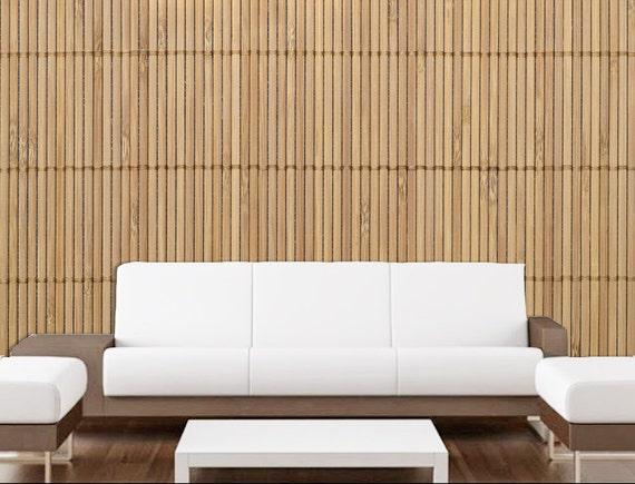Wall mural wood mural wood wallpaper bamboo mural large for Bamboo wall mural wallpaper