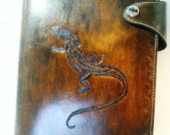 Reader, book cover, protected-agenda, all leather, handmade, personalized with the image of your choice