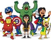 Bob's Avengers A5 print