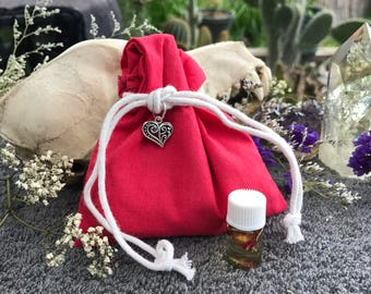 Come To Me Boy Mojo Bag-Hoodoo-Pagan-Wicca-Witchcraft-Medicine bag
