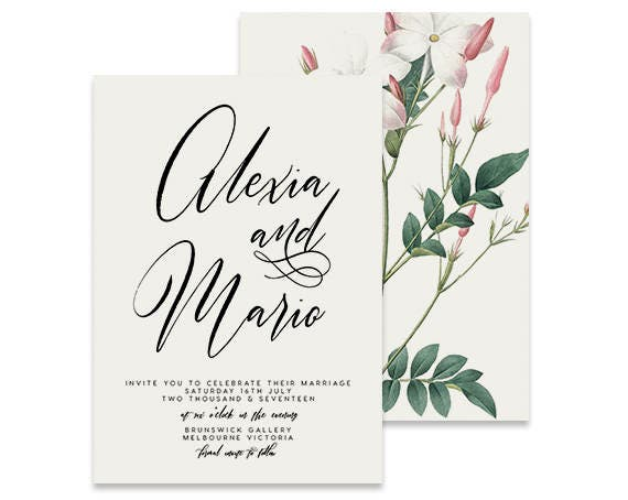 Simple Wedding Invitation Blush Printable DIY Invite
