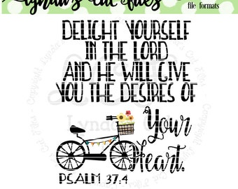 Delight Yourself in the Lord//SVG/DXF/EPS file