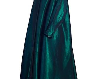 1950s Vintage Emerald Green Silk Swing Evening Coat