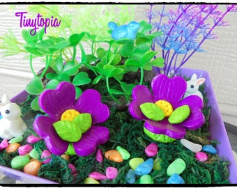 Miniature Flower Chairs  (Set of 2) Fairy Garden Accessory