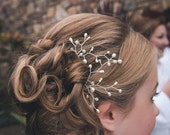 Bridal hair pin bridal hair grip bridesmaids hair grip pearl hair pins crystal hair pins rose gold hair pins rustic headpiece