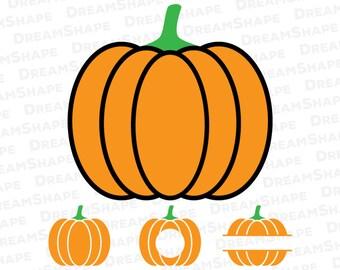 Pumpkin SVG Files, Pumpkin SVG, Pumpkin Monogram SVG, Pumpkin Split Svg, Pumpkin Svg Cut File, Halloween Pumpkin Svg Cut, Instant Download