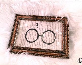 Harry Potter Glasses - Framed Book Page Art