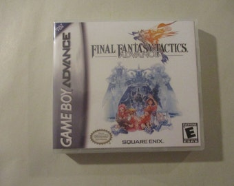 Final Fantasy Tactics Advance GBA/GameBoy Advance  Custom Case  (***No Game***)