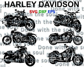 Harley Davidson vector - Motorcycle cut - Motorcycle vector - Motorcycle silhouette - V rod muscle - Night rod special – Harley Davidson svg
