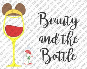 Beauty and the Bottle SVG and DXF