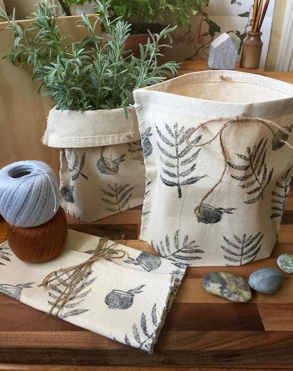Fire Fern and Cauldron Cloth Pot/Bag