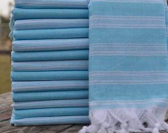 """40""""x70"""",Turquoise Peshtemal,Cotton Towel,Turkish Peshtemal,Bath Peshtemal,Hammam Towel,Spa Towel,Turkish Towel,Beach Peshtemal"""