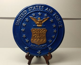 U.S. Air Force Military Insignia Decorative Home or Garden Stones
