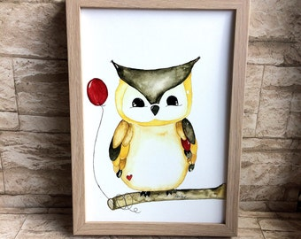Nursery picture OWL