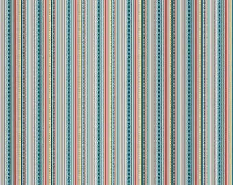 "Riley Blake Designs ""Little Flyers"" by Kelly Panacci. 100% cotton, pattern C4573 Gray - Stripe."