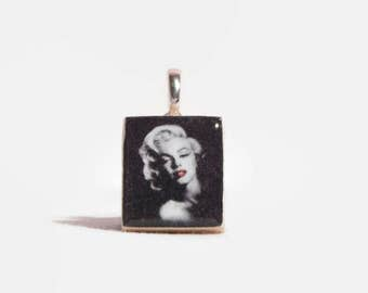 Marilyn Monroe Red Lips or Sitting Charm Key Chain or Necklace