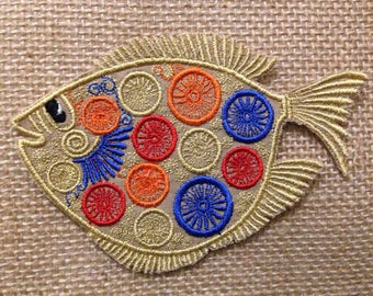 Fish iron on patch