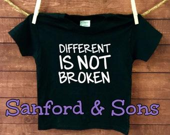 Different is not broken-Autism Shirt-kid shirt-boy shirt-Girl Shirt-Toddler Shirt,Autism awareness shirt,Hipster Shirt,Autism Awareness