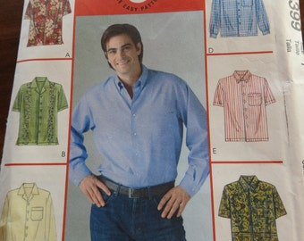 Men's Long And Short Sleeved Sewing Pattern