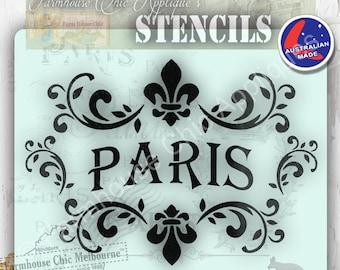 Mylar Furniture Stencil, French Vintage Stencil, Artist Stencil, Cake Stencil, Furniture Decoration, Wall Stencil, Cushion Stencil. Paris.