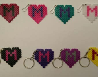 Personalized heart keychains - Set of 8