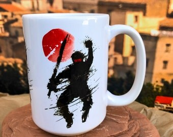 Split Second Ninja.  11oz or 15oz Coffee Mug.