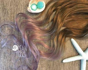 Human Hair Extensions, Clip In, Ombre Hair, Pastel Hair ,Lilac Hair, Rose Gold Hair, Lavender Hair, Mermaid Hair, Ocean Locks Hair