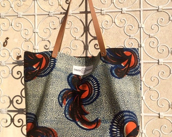Odessa in wax and leather tote