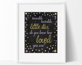 Twinkle Twinkle Little Star Welcome Sign, Twinkle Twinkle Printable Birthday Sign, Instant Download Twinkle Twinkle Sign