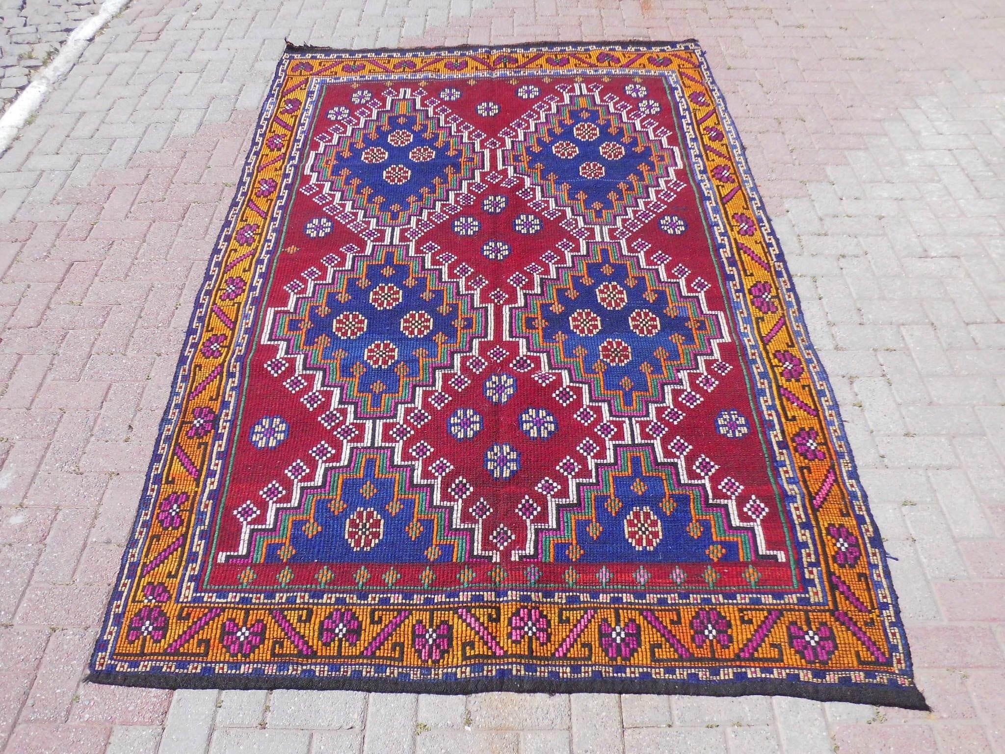 Turkish Goat Hair Wool Kilim Rug outdoor rug turkish rug