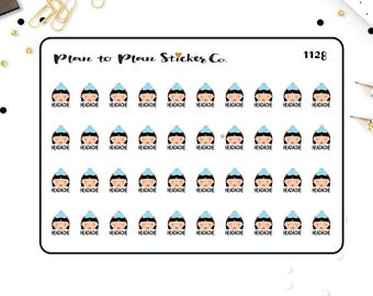 1128~~Headache Tracker Planner Stickers.