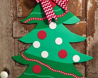 Whimsical Christmas Tree Door Hanger - Christmas Decor - Christmas Door Hanger - Winter Decor - Holiday Door Hanger - Holiday Decor -